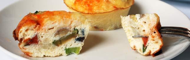 Омлет с морепродуктами по дюкану